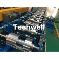 Wholesale K Gutter, Round Gutter Cold Roll Forming Machine With Hydraulic Cutting PLC Control from china suppliers