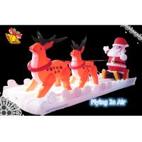 Wholesale 6m Oxford Cloth Inflatable Santa and Reindeer for Christmas Decoration from china suppliers