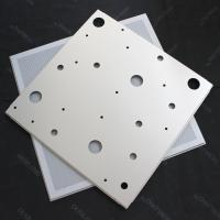 Wholesale CNC Perforated Lay In Ceiling Tiles 600x600mm False Ceiling Panel RAL9010 from china suppliers
