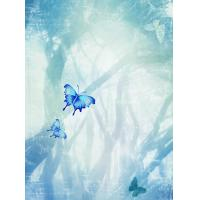Wholesale Elegant light blue / dark blue / green / yellow / pink /butterfly wall decoration painting from china suppliers