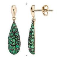 Wholesale Emerald Yellow Gold earring from china suppliers