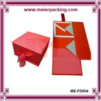 Wholesale Foldable Flip Top Tied with Ribbon Cardboard Box for Gift Packing ME-FD004 from china suppliers