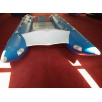 Wholesale PVC Fabric Catamaran Work Boat 450cm Inflatable Catamaran Boats For Water Sports from china suppliers