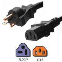 Wholesale 20A 125V UL Listed Plug Power Cord , NEMA 5 20P to IEC 60320 C13 AC Power Cord from china suppliers