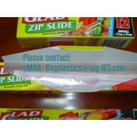 Wholesale Slide Seal Food Storage Bag, Gallo, Quart, American value, drug store, ziploc, zipper seal from china suppliers