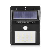 Wholesale IP65 Waterproof 16 LED Solar Motion Sensor Led Light Garden Security Lamp 1W from china suppliers