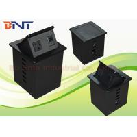 Wholesale Aluminum Alloy Smart Office Desktop Hydraulic Pop Up Power Socket Box US Standard from china suppliers