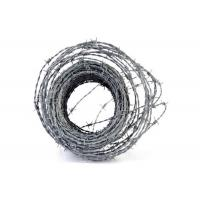 Quality Anti - Climb 14×14 Guage Security Barbed Wire Hot Dipped Galvanized On Fence Top for sale