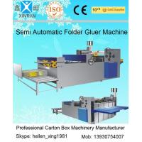 Wholesale Easy Operation Semi Automatic Gluing Machine Carton Gluer For 260mm Paperboard from china suppliers