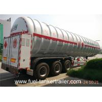 Wholesale 52600L Volume LNG transportation tri - axle tanker trailer large capacity from china suppliers