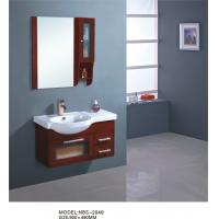 Wholesale Various shape wooden bathroom furniture cabinets , hardwood bathroom vanity simple Feature from china suppliers