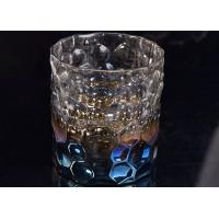 Wedding Home Decoration Debossed Iridescent Glass Candle Holders