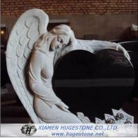 Wholesale Black Granite Tombstone with Delicate Lace, Elegant Goddess Lying on  from china suppliers