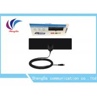China Links 50 Miles UHF VHF TV Antenna Indoor Thin Flat Coax Cable F Male Connector on sale