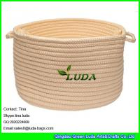Wholesale LUDA small round storage bin handmade hanging storage basket from china suppliers