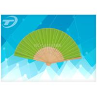 Wholesale Natural Bamboo Ribs And Paper / Silk Folding Hand Fans Wedding Favor Fan 21cm 23cm from china suppliers