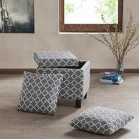 Wholesale Living Room Square Folding Storage Ottoman High Density Foam With 2 Pillows from china suppliers