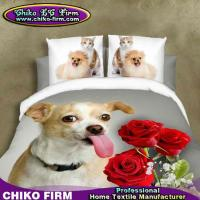 Wholesale Soft Pure Polyester Cute Animal Dog Queen Size 3D Bedding Sets from china suppliers
