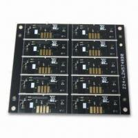 Quality Double-sided Board for Battery, with Gold Plating and Flash Gold Surface Treatment for sale