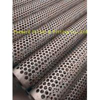 Quality Straight Weld Decorative Perforated Metal Tube Oval Shape of Hole for sale