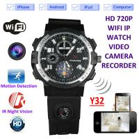 Buy cheap Y32 32GB 720P WIFI IP Spy Watch Camera Wireless Remote CCTV Video Monitor IR Night Vision Home Security Nanny Camera from wholesalers