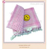 Wholesale European fashion smile face jacquard scarf from china suppliers