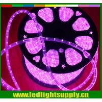 Wholesale waterproof mini led lights 10mm 2 wire pink christmas rope light from china suppliers