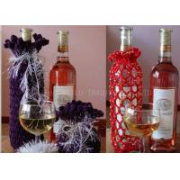 Wholesale Cotton Thread Knitted Wine Bottle Cover Decoration Crochet Wine Bottle Cozy from china suppliers