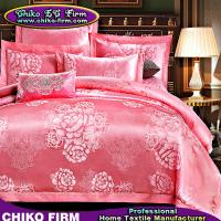 Wholesale Queen King Size Pink Wedding Jacquard Luxury Duvet Cover Sets from china suppliers
