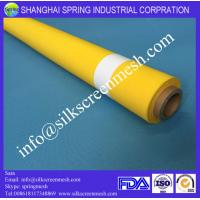 Wholesale screenprinting mesh 90T white/yellow 100% monofilament polyester mesh from china suppliers