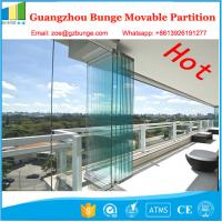 Wholesale 10MM Folding Glass Room Movable Wall Panels With Sliding Door 500 / 1230mm Width from china suppliers