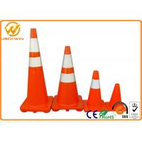 Wholesale Reflective Orange PVC Traffic Safety Cones Impact Resistant 45cm / 70cm / 90cm Height from china suppliers