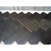 Wholesale White Oak Parquet Herringbone (stained wenge color) from china suppliers