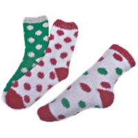 Wholesale Polka dot pattern ,Aloe Infused SPA Socks polyester plush therapy spa sock from china suppliers