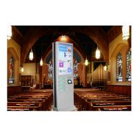 Wholesale Network Multi Cell Phone Charging Station Kiosk With Big Advertising Screen from china suppliers