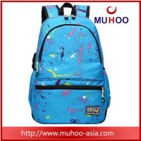 Quality Printed high school travel hiking backpacks school bag for outdoor for sale