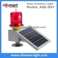 Buy cheap 30LED Red Solar Obstruction Light Aviation Warning Lamp with Solar Panel For Tower Crane High Building from wholesalers