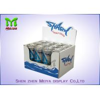 Quality Waterproof corrugated material cardboard countertop display boxes for energy drink for sale