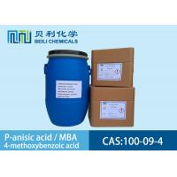 Wholesale White crystalline powder 	P-anisic Acid 100-09-4 99.0% purity with stock from china suppliers
