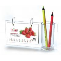 Wholesale Desktop A5 Acrylic Calendar Pen Holder Frames L Type For Home from china suppliers