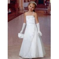 Wholesale China Flower Girl Dress/ Princess a-Line Floor Length Satin Flower Girl Dresses from china suppliers