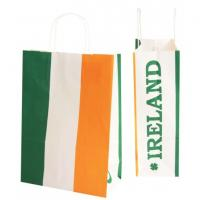 Wholesale Block Bottom Striped Paper Carrier Bags Glossy /  Matt Lamination With Logo from china suppliers