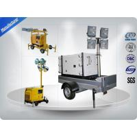 Wholesale Air - Cooled Telescopic Light Tower / Manual Trailer Mounted Light Towers from china suppliers