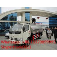 Wholesale China cheapest price dongfeng 5,000L stainless steel milk tank for sale, food grade liquid good transported truck from china suppliers