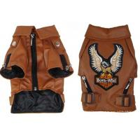Buy cheap Big Small Personalized Pet Dog Clothes Leather Jacket Brown , Black Color For Winter from wholesalers