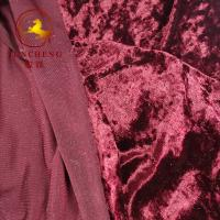 Wholesale china factory weft knitted velvet/velour/crush velvet for garment and chair cover from china suppliers