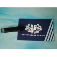 Wholesale blue PVC baggage tag with printing logo on back from china suppliers