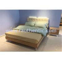 Wholesale Steady wood bed frame with Metal supporting legs with Comfortable upholstered headboard from china suppliers