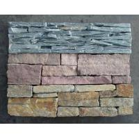Wholesale Green Slate Slim Strips Ledgestone, Culture Stone Veneer with Cement Back,Outdoor Wall Panel from china suppliers