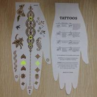 Wholesale Fluorescent Flash Metallic Tattoo Stickers Temporary , Festival Tattoo Stickers from china suppliers